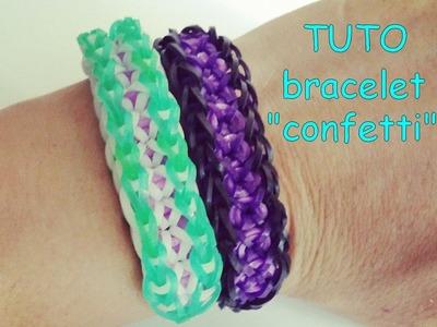 """[ TUTO ] bracelet élastique  """" confetti """""""