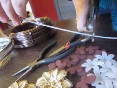 Faire un collier en  fils aluminium (partie1) jewelry creation wire