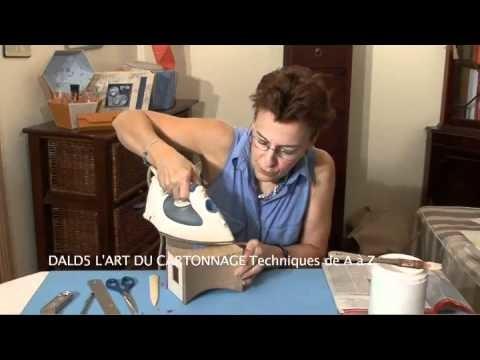 L'ART DU CARTONNAGE Techniques de A à Z (existe en DVD et VOD)
