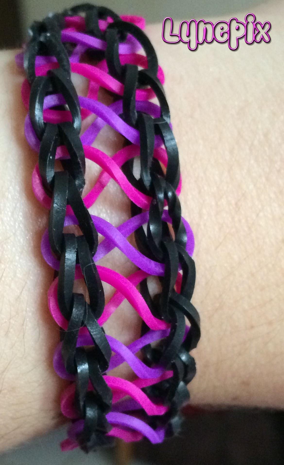 Loom #4 Bracelet Infinity (en français)(Rainbow Craz Loom)