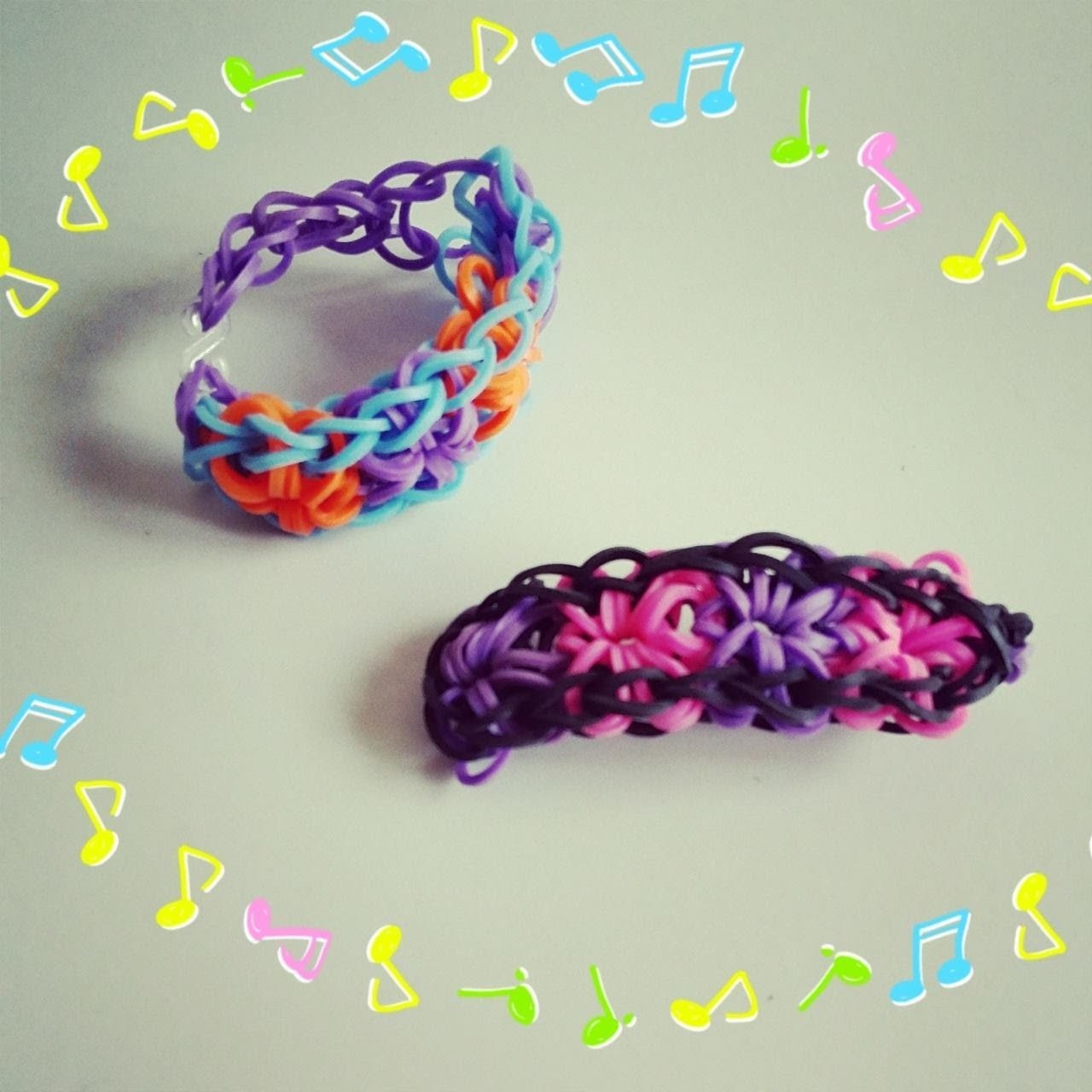[ TUTO ] bracelet elastique 4 fleur