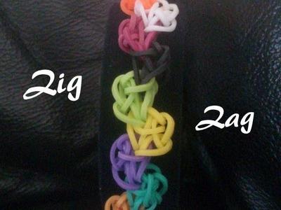 Bracelet Zig Zag Rainbow loom® Tutoriel Français (Niveau Débutant)