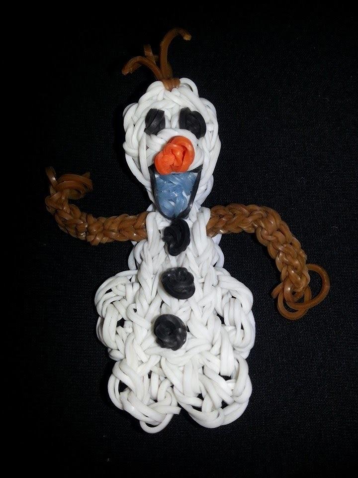 Olaf, Bonhomme des neiges dans La reine des neiges en Loom Tutoriel en Français