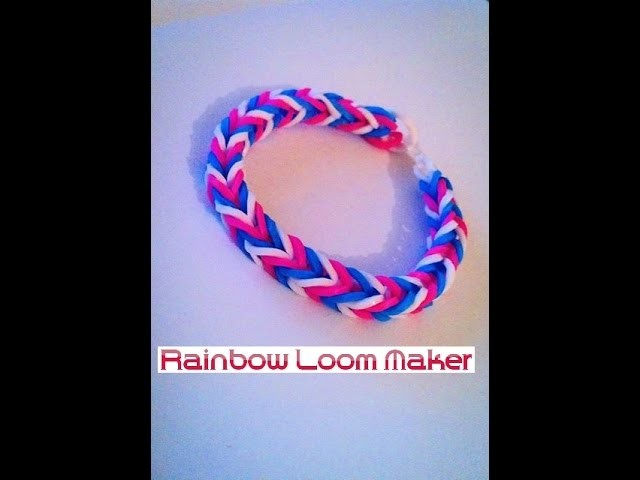 TUTO FR.EN ! Rainbow loom bracelet Fishtail model