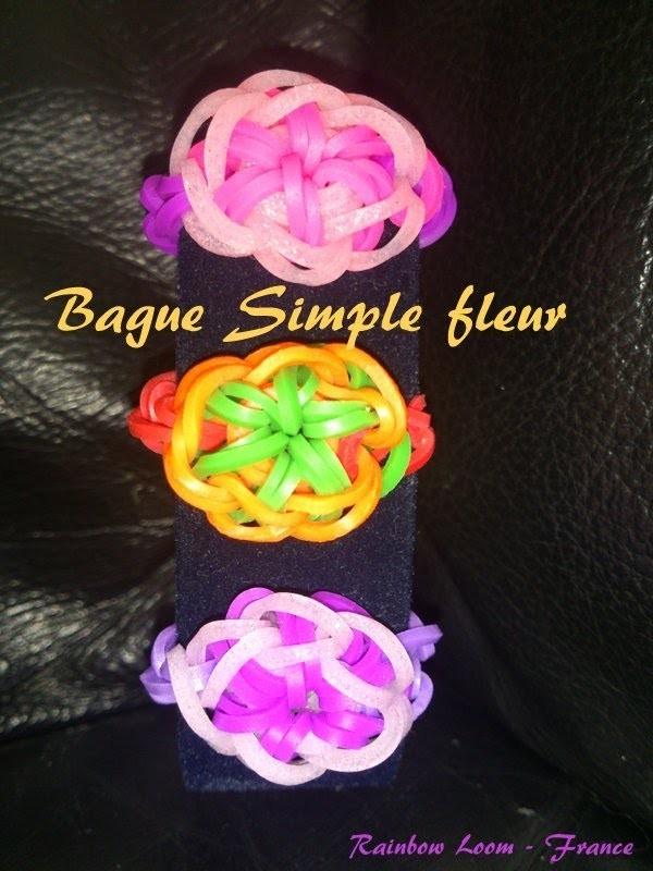 Bague Simple Fleur Rainbow Loom® Tutoriel Français (Niveau débutant)