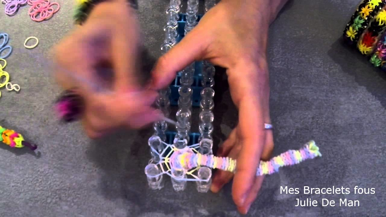 Montage bracelet élastique rond #5 rainbow loom