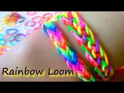 Tutoriel : bracelet élastique facile et RAPIDE - RAINBOW LOOM  (en français)