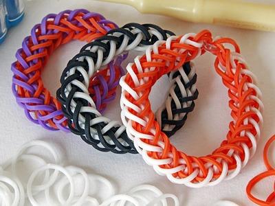 TUTO : bracelet élastique double tresse bicolore - Rainbow Loom (en Français)
