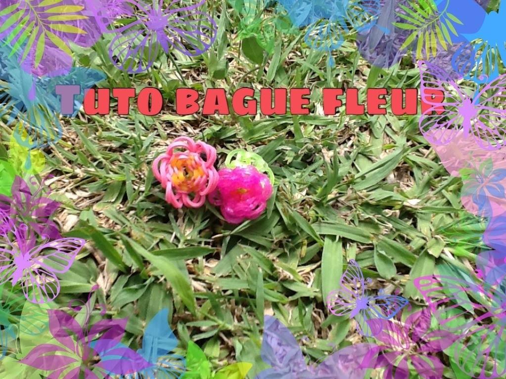 Bague Rainbow Loom fleur (tuto en français)