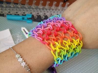 [ TUTO ] bracelet élastique manchette rainbow