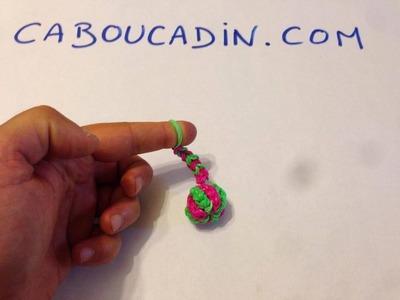 Tuto porte -clé  ballon rainbow loom - français