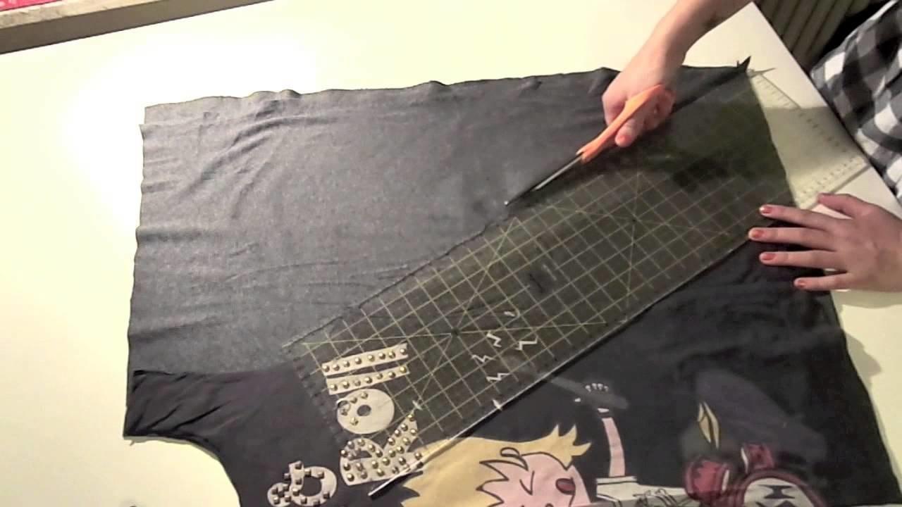 ❤ DIY : Top baggy avec bas asymétrique! (transformation de t-shirt)