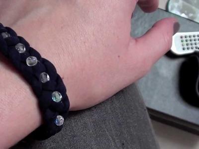 Tutoriel : Réaliser un bracelet tresse avec 4 brins