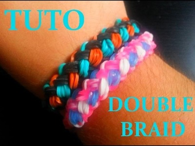DIY : Double Braid Loom Bands. Bracelet Torsadé. (Français)