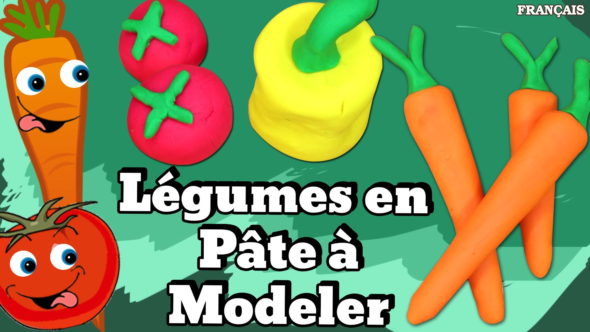 Francais Facile: How To Play Doh Vegetables in French | Légumes en Pâte à Modeler en Français