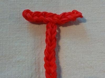 Lettre T Rainbow loom® Tutoriel Français (Niveau Débutant)