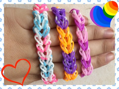 Loom #15 Bracelet Heart Braid (En Français)(Rainbow Loom)