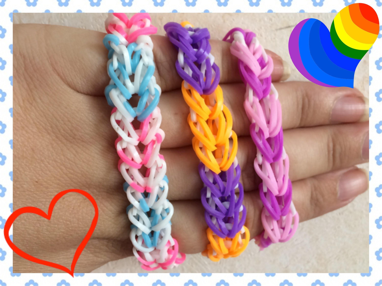 Loom #15 Bracelet Heart Braid (En Français)(Rainbow Loom)