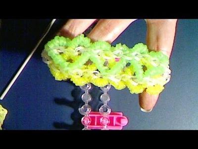 Rainbow loom francais :bracelet cœur (loom band)