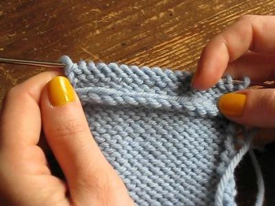 Relever les mailles dans le sens du tricot : le résultat