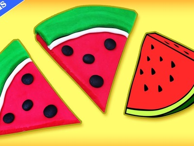 Tranches De Pastèque en Pâte à Modeler | Learn how to make Play Doh Watermelon Slice
