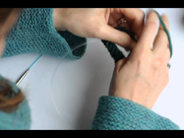 Tricoter en rond avec deux aiguilles circulaires