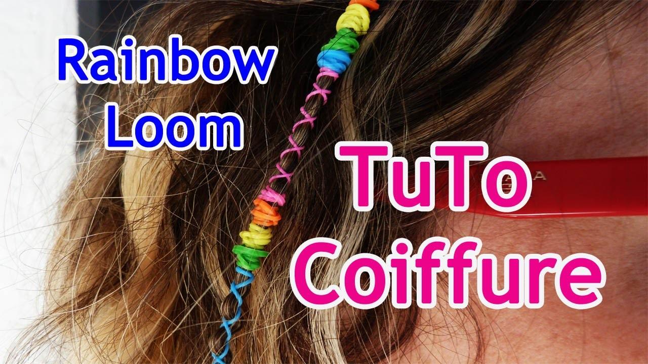 TUTO : Coiffure, accessoire de cheveux avec des Rainbow Loom