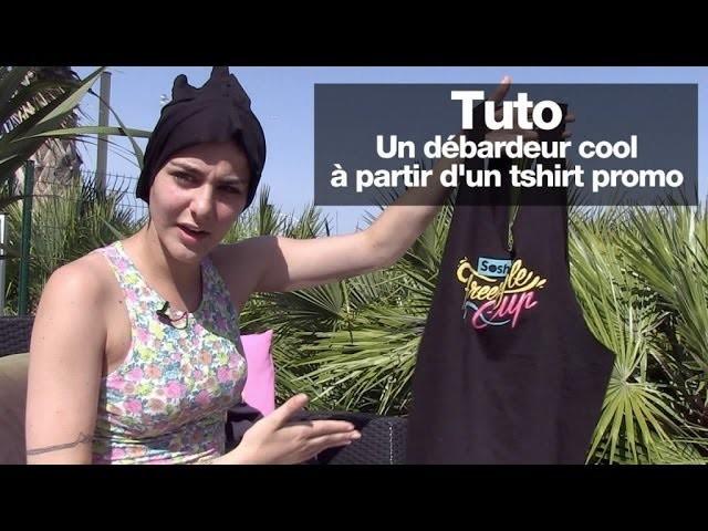 Tuto DIY : un débardeur cool à partir d'un tshirt promo