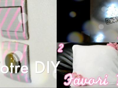 3 DIY :  Décorer sa chambre !