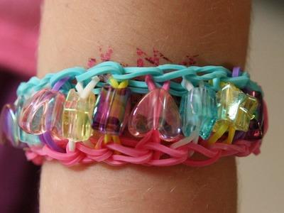 Bracelet élastique avec des perles- modèle facile