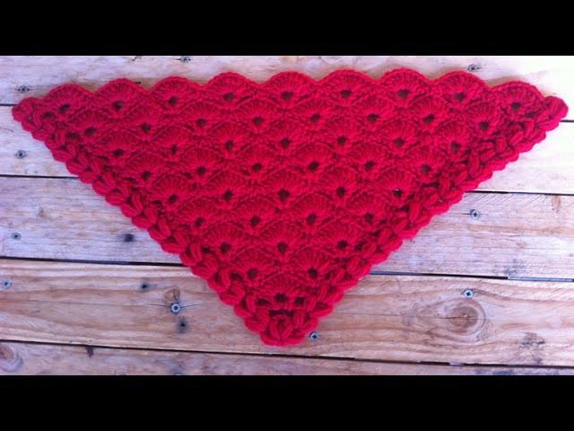 Châle éventail crochet facile. chale albanicos facil a crochet
