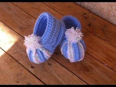 Chaussons citrouille bébé au crochet.  baby booties crochet