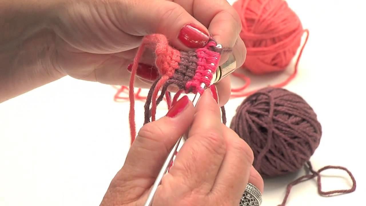Crochet tunisien : les rayures de deux couleurs - L'atelier Edisaxe