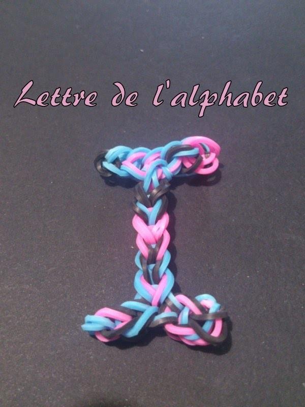 Lettre I Rainbow loom® Tutoriel Français (Niveau Débutant)