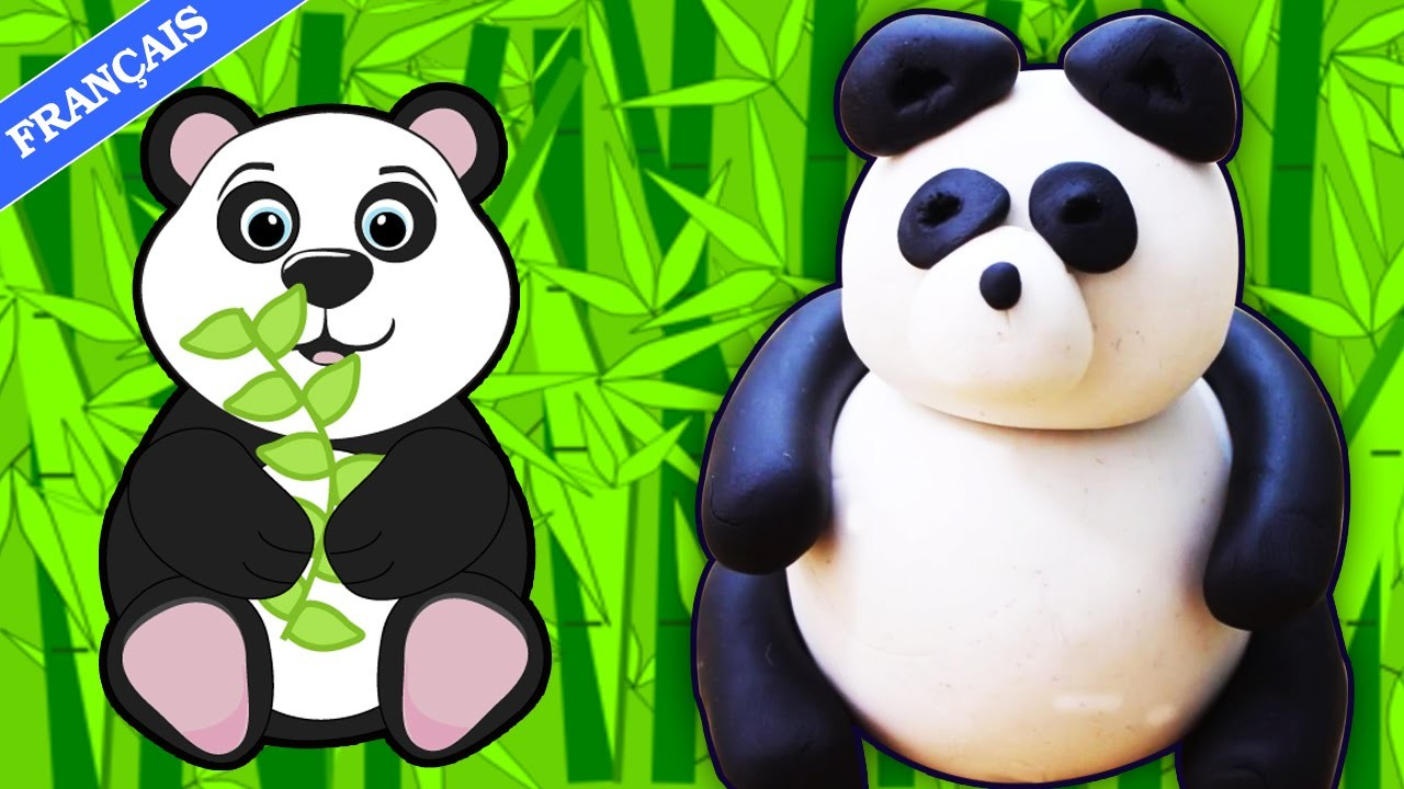 Play Doh Panda en Pâte à Modeler | Play Doh Video | Easy DIY Play-Doh Panda