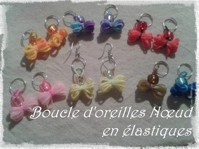 Tuto #2 - Boucles d'oreilles nœud avec élastiques avec FR.Pandahall.com