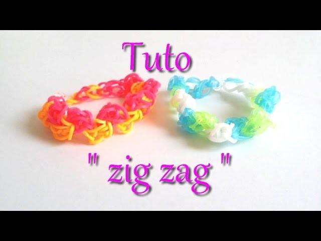 "[ tuto ] bracelet élastique ""zig zag"""