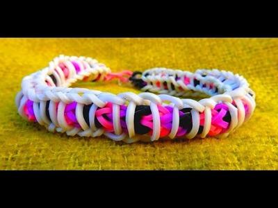 Bracelet élastique RAINBOW LOOM  SPIRALE ( en français)
