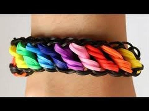 Bracelet torsadé (de couleur) arc-en-ciel en francais