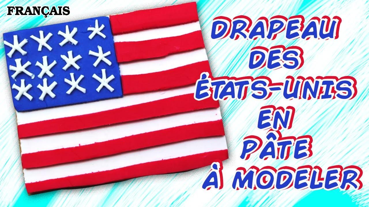 Francais Facile: How To Play Doh US Flag | Drapeau des États-Unis en Pâte à Modeler  en Francais