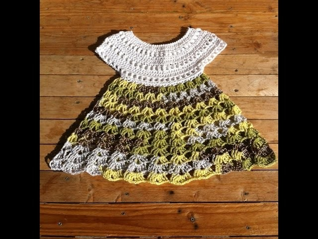 Robe crochet bebe 1.2. baby dress crochet 1.2