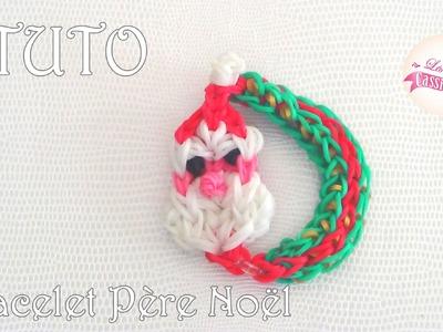 [ tuto ] bracelet père Noël en élastique Rainbow Loom