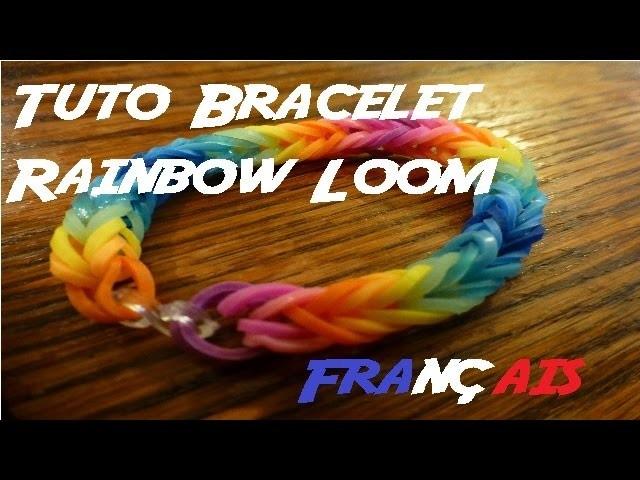 Tuto bracelet Rainbow Loom arc-en-ciel (facile)