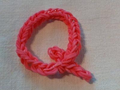 Lettre Q Rainbow loom® Tutoriel Français (Niveau Débutant)