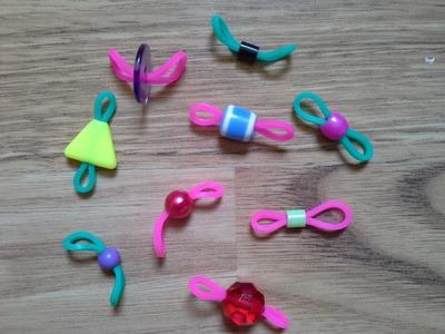 Astuce pour enfiler des perles dans une elastique