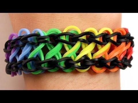 Bracelet rainbow loom double infinity