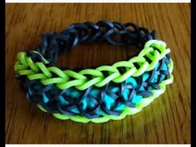 Bracelet style confetti en rainbow loom niveau intermédiaire débutant ( partie 1 )