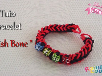 { TUTO } Bracelet fish bone en élastique Rainbow Loom ( désign Rainbow Loom )