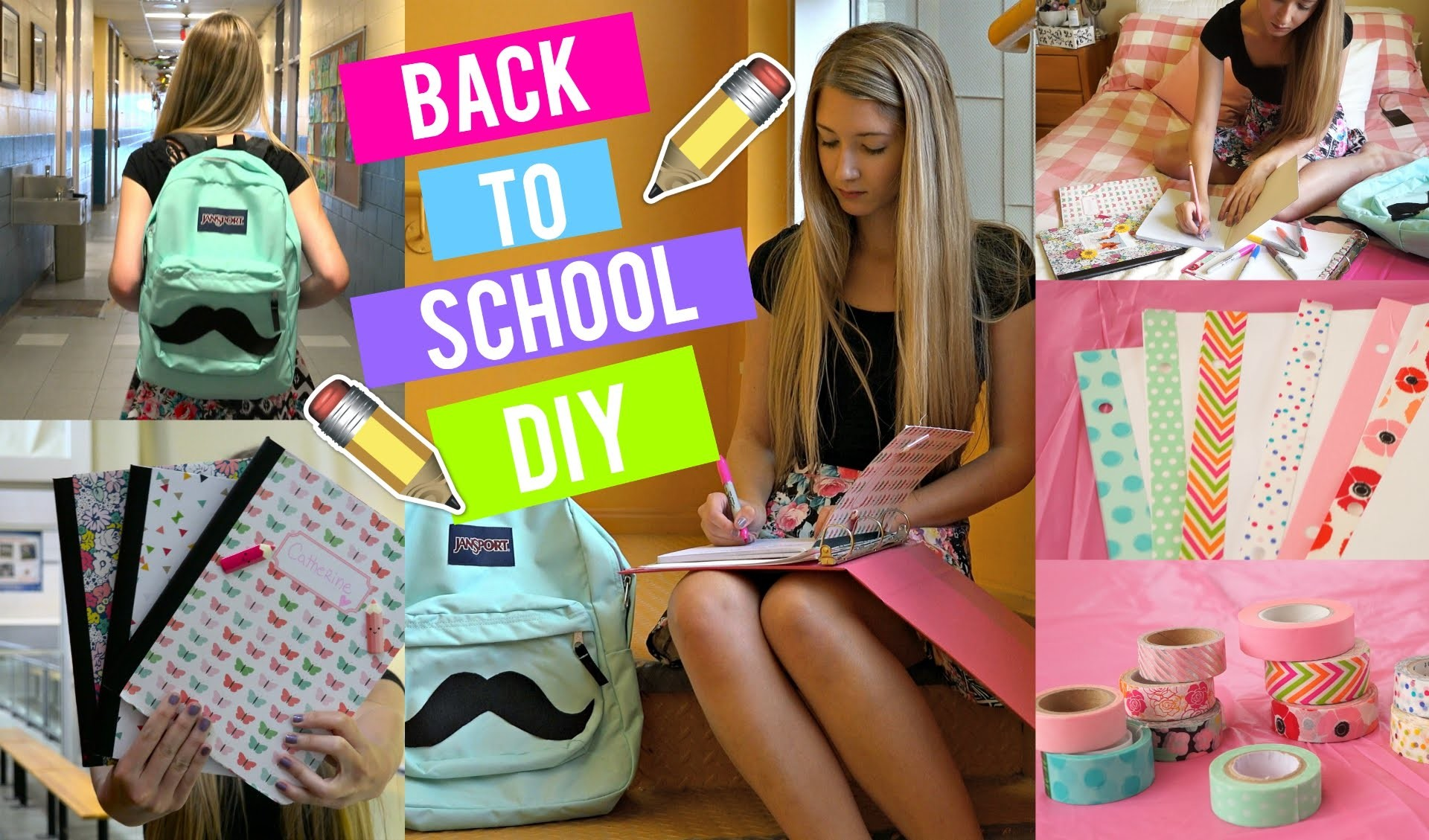 DIY FOURNITURES SCOLAIRES ! | BACK 2 SCHOOL 2015