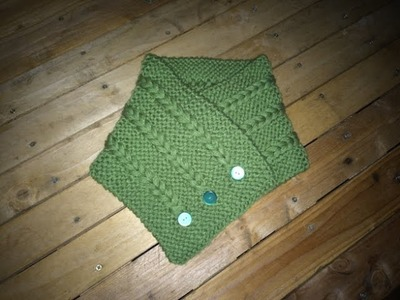 Echarpe tour de cou tricot  DIY. cuello en dos agujas